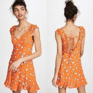 Free People Like A Lady Mini Dress in Orange Sz M